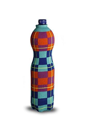 Thebodyb Multicolor Chess Flaschenüberzieher, Stoff, Türkis