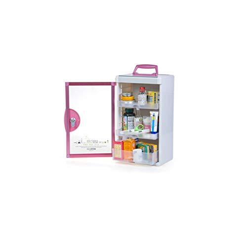 Multi-Layer-Medizin-Box Haushalt große Erste-Hilfe-Box Unternehmen Wand Medizin Aufbewahrungsbox Kunststoff medizinische Box WGLGL (Size : 23×16.5×39.2cm)