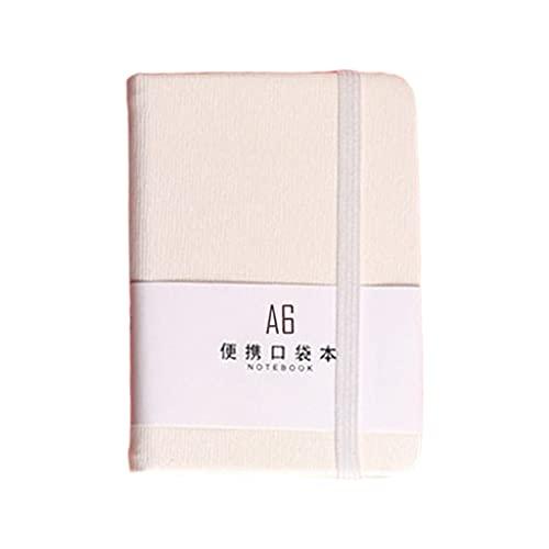 Wenyounge Pocket Spring Tape Bloc de Notas Cuaderno A7 A6 Cuaderno para Beber Diario de Viaje Libro Escuela Oficina Papelería