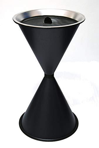 Standaschenbecher Diabola 71x40 cm inkl. 25 kg Quarzsand, anthrazit, Marke: Szagato, Made in Germany (Kegel Ascher Standaschenbecher Aschenbecher Standascher Sanduhr)