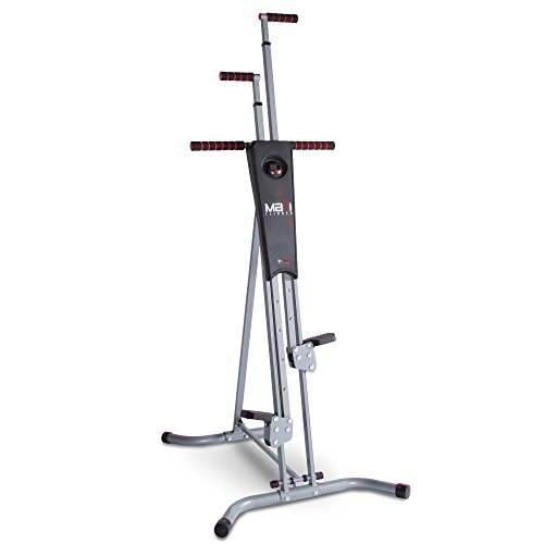 Maxi Climber The Original Patented Vertical Climber, As Seen On TV - Full Body Workout with Bonus Fitness App for iOS and Android, Black & Silver