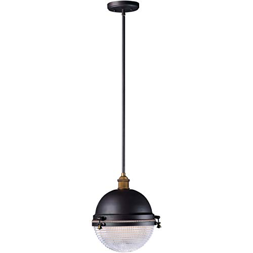 """Outdoor Pendant 1 Light Fixtures with Oil Rubbed Bronze and Antique Brass Finish Aluminum and Brass Material MB 12"""" 60 Watts"""