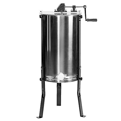 VIVO Large 3 Frame Stainless Steel Honey Extractor SS Model BEE-V003D