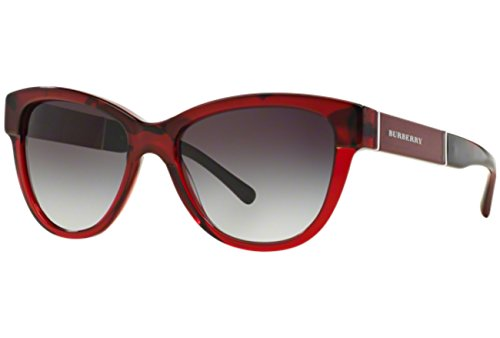BURBERRY 0BE4206 35918G 55 Occhiali da Sole, Rosso (Top Red Horn On Bordeaux/Greygradient), Donna