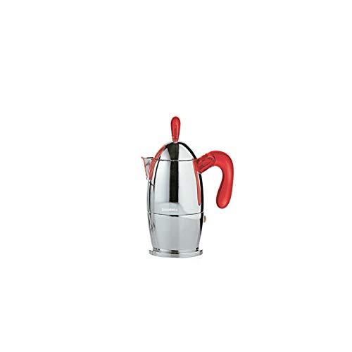 Zaza espressomaker 1 kopje rood Guzzini 21440565 Gocce