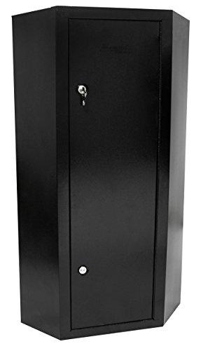 First Watch / Homak 10-Gun Security Corner Cabinet, Black, HS30136010
