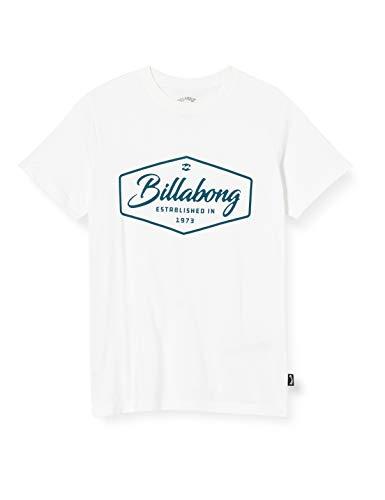 BILLABONG Trademark - Camiseta para Chicos Camiseta, Niños, White, 10