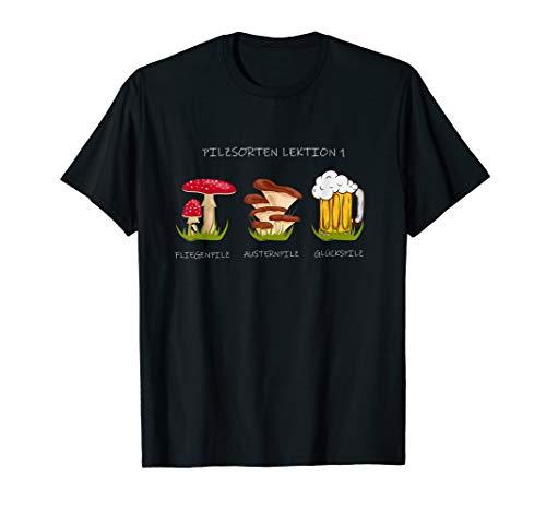Fliegenpilz Austernpilz Glückspilz Pilzsammler Bier Geschenk T-Shirt