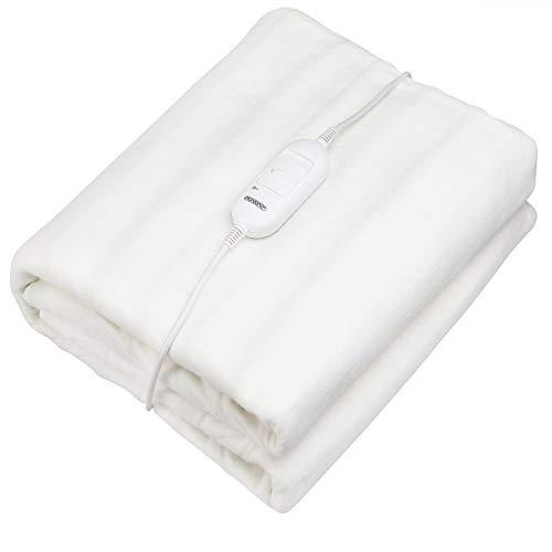 Deuba Wärmeunterbett 190x80 Heizdecke elektrisch Waschbar bis 40° 2 Temperatur-Stufen Überhitzungsschutz