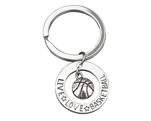 qws Basketball-Anhänger – Basketball Geschenk – Live Love Basketball Schmuck für Frauen, Teenager und Mädchen, perfektes Basketball-Geschenk für Spieler