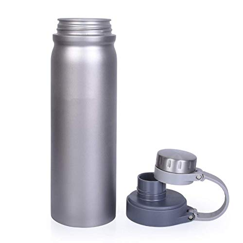 Botella de agua con doble tapa mango a prueba de fugas boca ancha beber taza de viaje ejercicio senderismo 1 pieza 1000ml