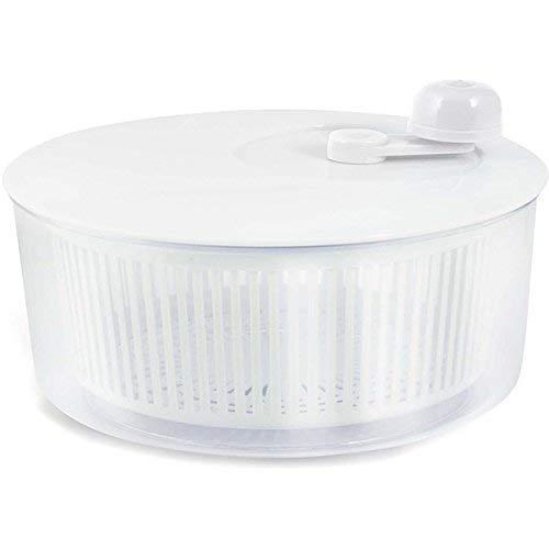 H&H D261 Centrifuga Insalata Plastica Cm19 Utensili da Cucina, Trasparente/Bianco