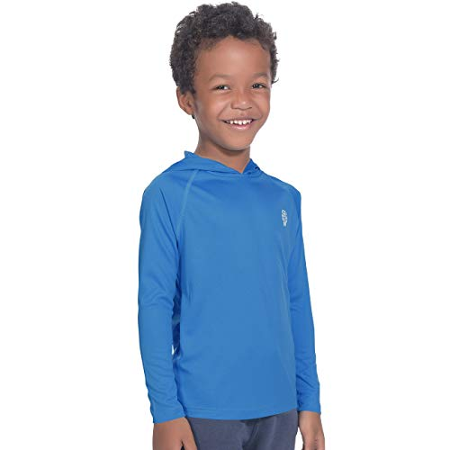 Big Boys' Pullover Athletic Hoodies Sun Protection Outdoor Recreation Tshirts Bright Blue