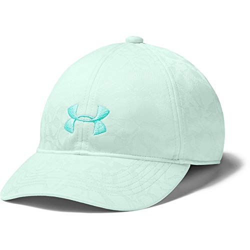 Under Armour Girls' Play Up Cap , Seaglass Blue (403)/Comet Green , One Size Fits All