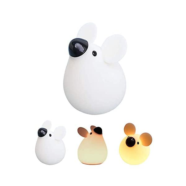 EUTORIA Night Light for Kids|Cute Nightlight Mouse Lamp|Silicone Bedside lamp|Home Decor Nursery lamp |Dimmable LED lamp