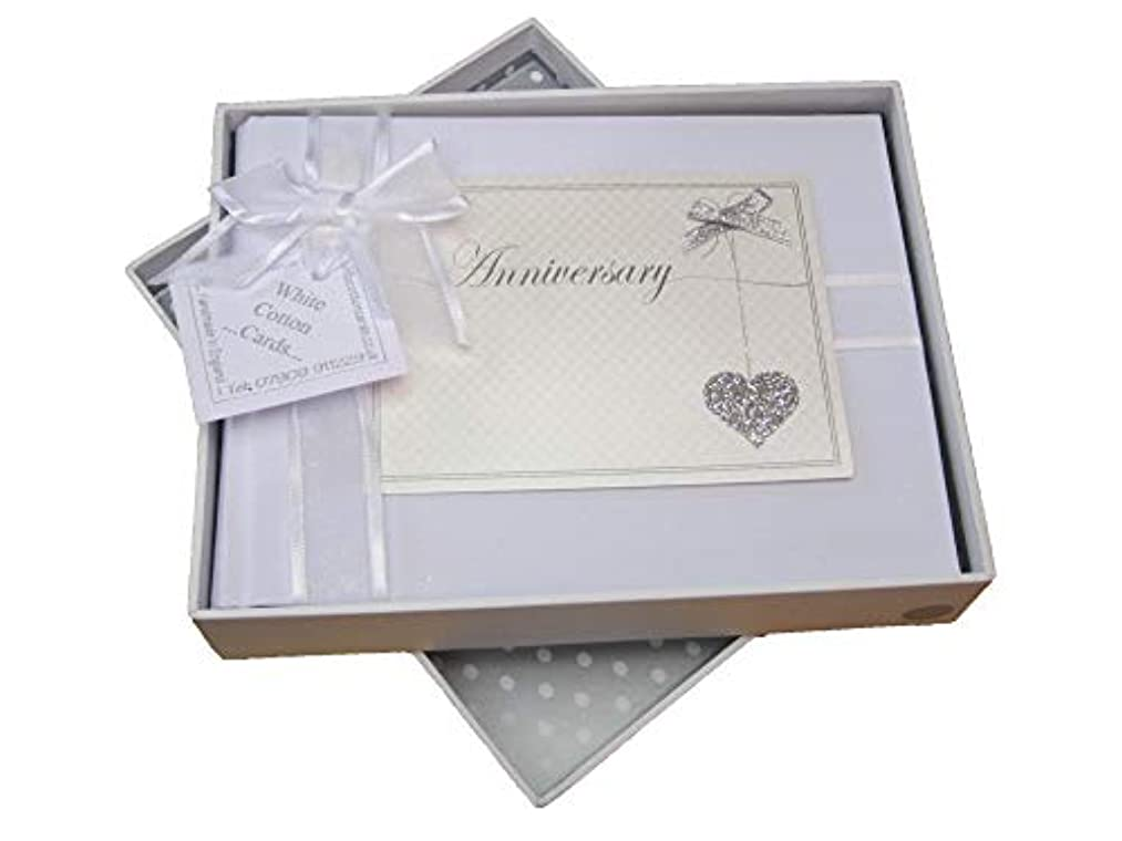 White Cotton Cards Anniversary Love Heart Design Photo Album (LLA-S)