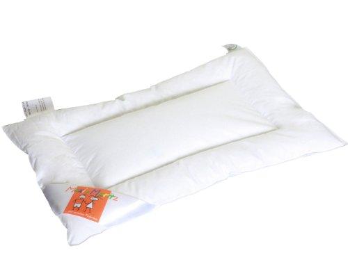 HANSKRUCHEN Maxi und Moritz | LUXUS Baby Flachkissen - 40x60 cm - 90% Daunen / 10% Federn - Deutsches Qualitätsprodukt