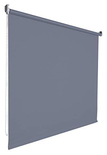 Kettenzugrollo Seitenzugrollo Tür Fenster Rollo Vorhang 14 Farben Breite 62 bis 202 cm Länge 180 cm lichtdurchlässig halbtransparent Metall Träger Wandmontage Deckenmontage (202 x 180 cm / Grau)