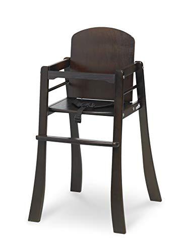 Geuther, Chaise haute Mucki, Bois de hêtre massif, Wengé, de 6 à 36 mois