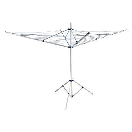Amazon Basics – Wäschespinne, frei stehend, drehbar, 50m