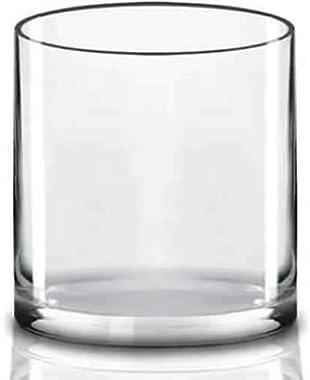 "CYS EXCEL 10"" Wide Vase, Hand blown-Glass Cylinder Vase thickness 1/4"", Flower Vase, Floating Candle Holder, Decorative Cente"