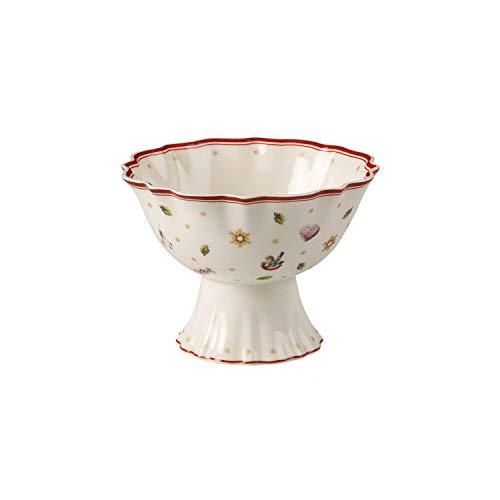 Villeroy & Boch Toy's Delight Bol à dessert sur pied, Porcelaine Premium, Blanc/Rouge