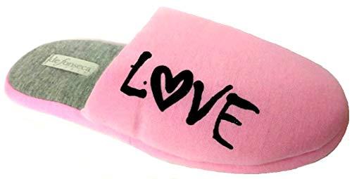 de fonseca Hausschuhe Winterschuhe für Damen Mod. Roma Top I W550 Pink, Pink - Rosa - Größe: 38/39 EU