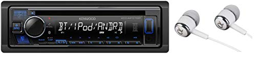 Kenwood Car Single DIN in-Dash CD MP3 Stereo Receiver USB AUX Inputs Built-in Bluetooth Dual Phone Connection iPod iPhone Control AM FM Radio Player