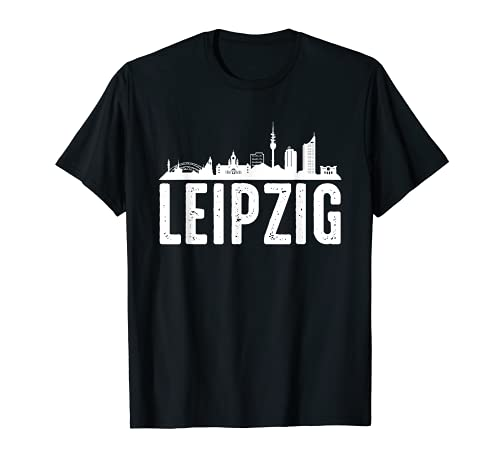 Leipzig Skyline Shirt Geschenk Stadt T-Shirt Für Leipziger