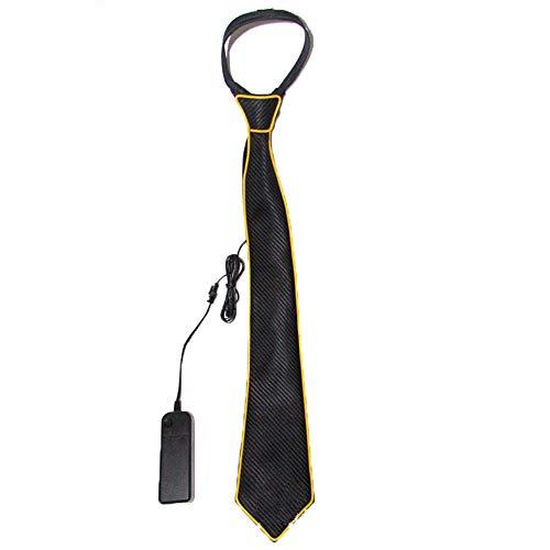 FENGT LED Light Up Neck Tie Für Männer Neuheit Krawatte Für Weihnachten Halloween Silvester Musik Festival Rave Party Burning Man Festivals,Orange