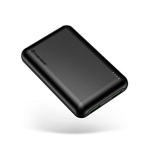 POSUGEAR Powerbank 20000mAh, Bateria Externa Movil Carga Rápida PD 22.5W (USB C Power Delivery & Quick Charge 3.0) con 3 Entradas (Dos Cables - USB C & Micro)