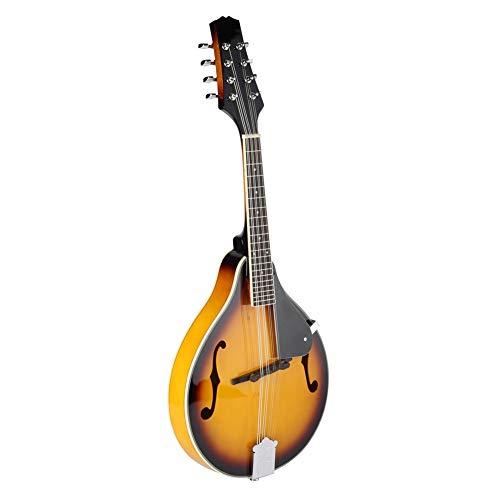 Mandoline, 8 Saitige Holz Klassisch Mandoline Akustik 8-Saitige Gitarre mit Aufbewahrungstasche