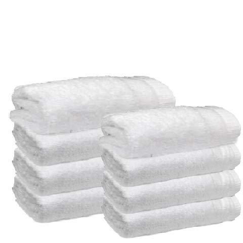 Atrivm Toallas hogar 100% algodón, más Suaves y absorbentes, esponjosas, te secan y se secan más rápidamente. Mejor relación Calidad-Precio (4 Toallas de Lavabo + 4 Toallas de Sábana, Blanco) ✅