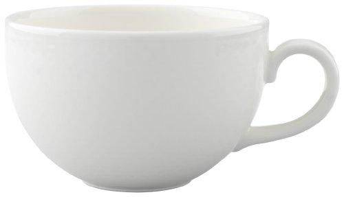 Villeroy & Boch Home Elements Cappuccinotasse, 350 ml, Höhe: 6,5 cm, Premium Porzellan, Weiß