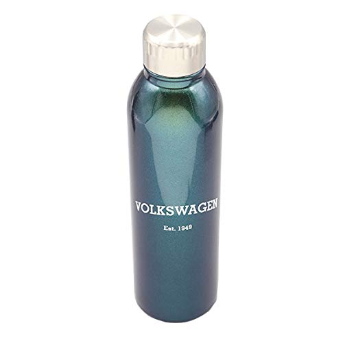 Volkswagen VW Illusion Stunner Stainless Steel Travel Water Bottle to-Go Cup -Green/Blue