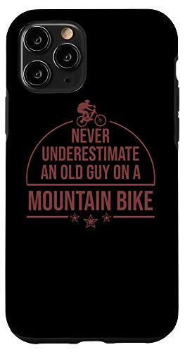 iPhone 11 Pro Funny Old Biker Mountain Bike Gift | Cute Bicycle Riders Men Case