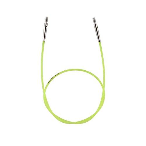 KnitPro Seile neu (farbig/Color) für Nadelspitzen, Endkappen + Schlüssel (60 cm)