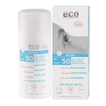 eco cosmetics Bio Sonnenlotion LSF 50 neutral ohne Parfum (2 x 100 ml)