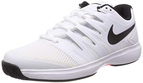 Nike Herren Air Zoom Prestige Hc Tennisschuhe, Mehrfarbig (White/Black-Bright Crimson 106), 43 EU