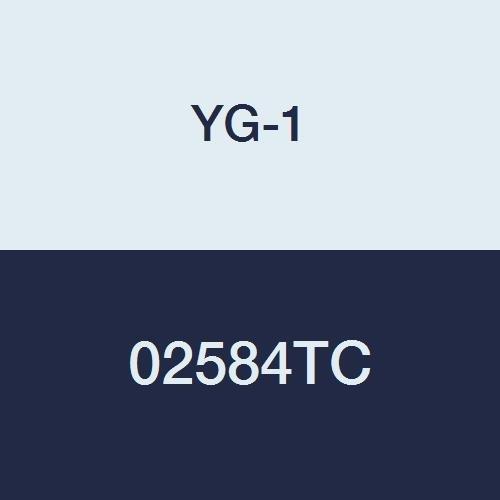 YG-1 02584TC 3/8' Carbide End Mill, 2 Flute, Long Length, TiCN Finish, 3' Length