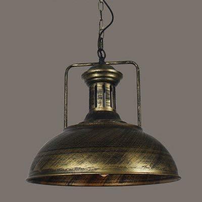 Lámpara de techo industrial de Scheune nautische – Lámpara colgante de 16 pulgadas con cúpula rústica/cuenco forma mounted Fixture – Lámpara de techo araña en bronce