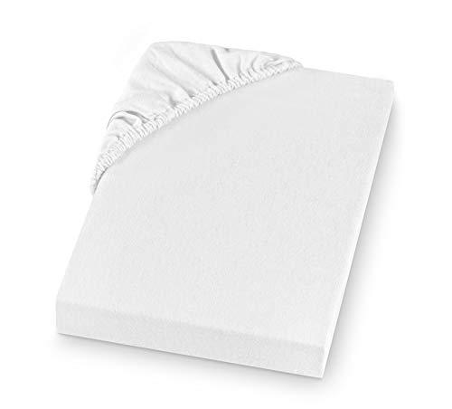 Setex - Lenzuolo con angoli, in cotone, Cotone, bianco, 160 x 200 cm