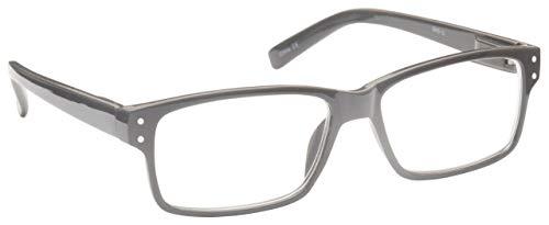 The Reading Glasses Solides Grau Kurzsichtig Fernbrille Kurzsichtigkeit Herren Damen Federscharniere M45-G -2,50