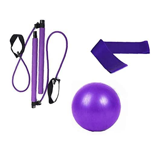 Kit de fitness de yoga con bola de yoga látex anillo elástico gimnasio ejercicio de ejercicio para estirar 3pcs fitness y conformación