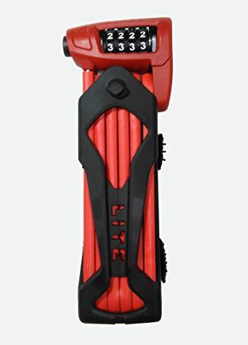 ABUS 52641 Faltschloss Bordo Combo Lite 6150/85, Schwarz/rot , 85 cm