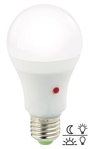 Luminea LED Leuchte: LED-Lampe mit Dämmerungssensor, E27, 11 W, 950 lm, tageslichtweiß (Dämmerungslicht)