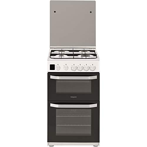 Hotpoint HD5G00CCW 50cm Double Cavity Gas Cooker - White