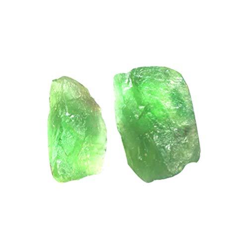 EXCEART Piedras de Fluorita Verde Ásperas Piedra de Cristal de Cuarzo Piedras...