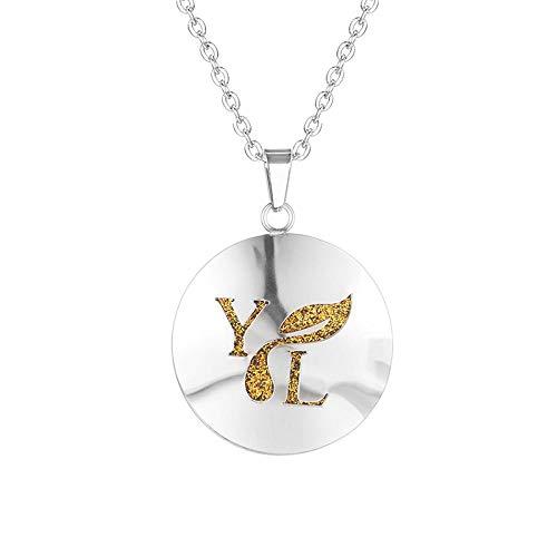 Preisvergleich Produktbild Ätherisches Öl Diffusor Halsketteeinfache Aromatherapie Diffusor Medaillon Parfüm Ätherisches Öl Halskette Edelstahl Medaillon Mit Filzgleiter Für Frau