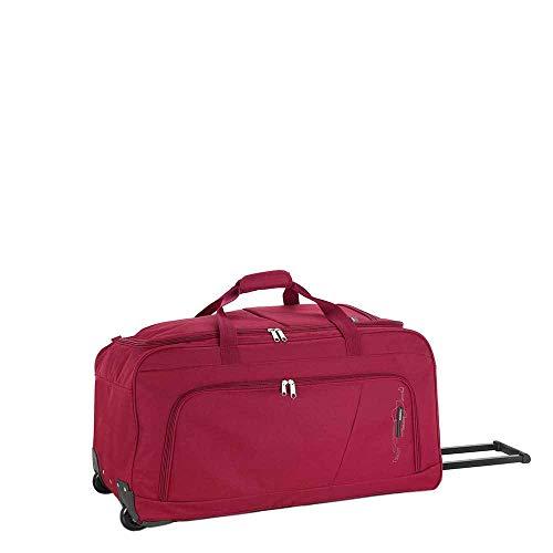 Gabol - Week | Bolso con Ruedas de Viaje Grande de Tela de 73 x 38 x 34 cm con Capacidad para 94 L de Color Rojo